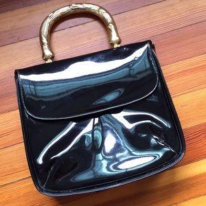 Handbags - VINTAGE Mod Patent Leather Purse Handbag Baguette